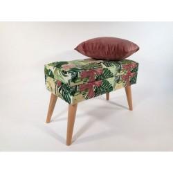 Lovare ławka motyw liściasty 60 cm Rossi Furniture