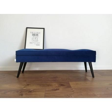 ławka dekoracyjna GRANATOWA LOVARE + lamówka Rossi Furniture