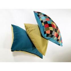 Poduszka , poduszki  dekoracyjane kolorowa mozaika BARCELONA Rossi Furniture Komplet 3 sztuki !!!