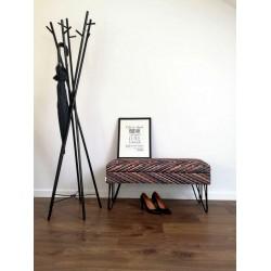 Ławka  ELECTRA  w tkaninie  BARCELONA , nogi stalowe   schowek