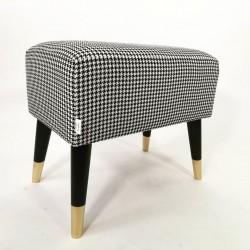 Stołek - Pufa do TOALETKI w PEPITKĘ od Rossi Furniture
