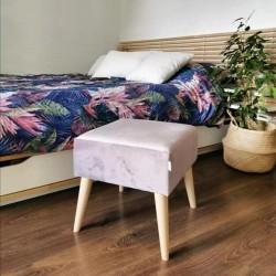 Pufa GUSTO 40 x 40   stołek od Rossi Furniture Granatowy