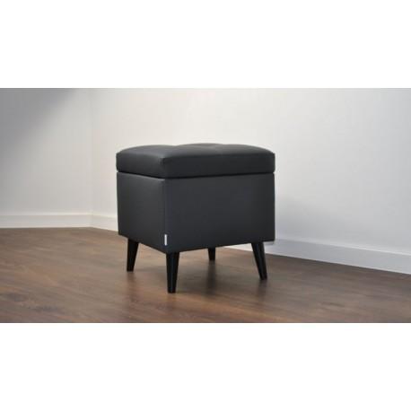 Otwierana Pufa z eko skóra nózki drewniane Rossi Furniture