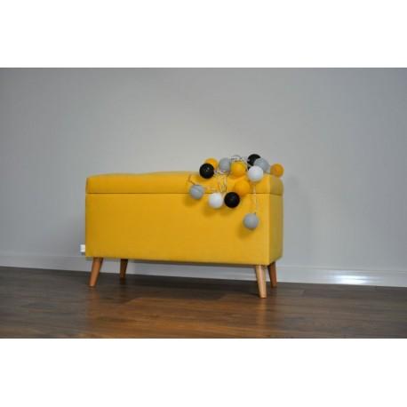 Kuferek żółty, ławka z pojemnik pod wymiar Rossi Furniture