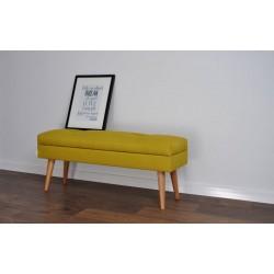 Nowoczesna ławeczka LOVARE ze schowkiem żółta plecionka  100 cm od Rossi Furniture