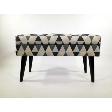 Ławka ze schowkiem wzory geometryczne od Rossi Furniture