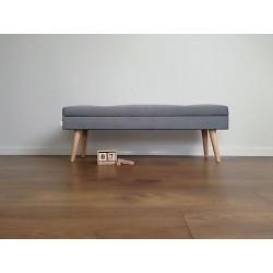 Ławka  tapicerowana dekoracyjna ze schowkiem od Rossi Furniture pod wymiar