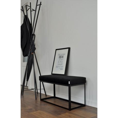 Ławka industrialna MATERIA LOFT czarna od Rossi Furniture pod wymiar