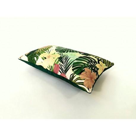 Poduszka dekoracyjna Motyw Liściasty zielona  Rossi Furniture  dekoracyjnych Liście