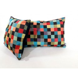 Poduszka dekoracyjna kolorowa mozaika BARCELONA Rossi Furniture Komlept poduszek dekoracyjnych 2 sztuki !!!