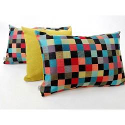 Poduszka dekoracyjna kolorowa mozaika BARCELONA Rossi Furniture Komlept poduszek dekoracyjnych 3 sztuki !!!!