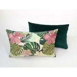 Poduszka dekoracyjna Motyw Liściasty zielona od Rossi Furniture  2 sztuki !!