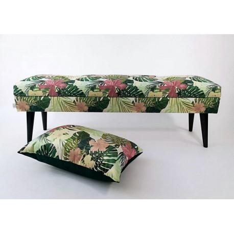 Lovare ławka motyw liściasty  cm Rossi Furniture