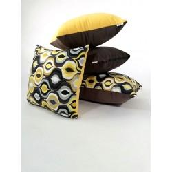 Komplet Poduszek dekoracyjnych 5 sztuk !!!! Poduszka dekoracyjna wzorzyste czarna , żółta Rossi Furniture