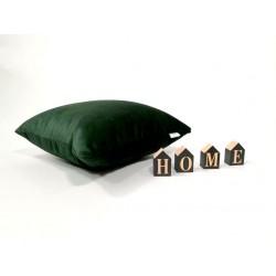 Zielona poduszka dekoracyjna od Rossi Furniture 40 x 40